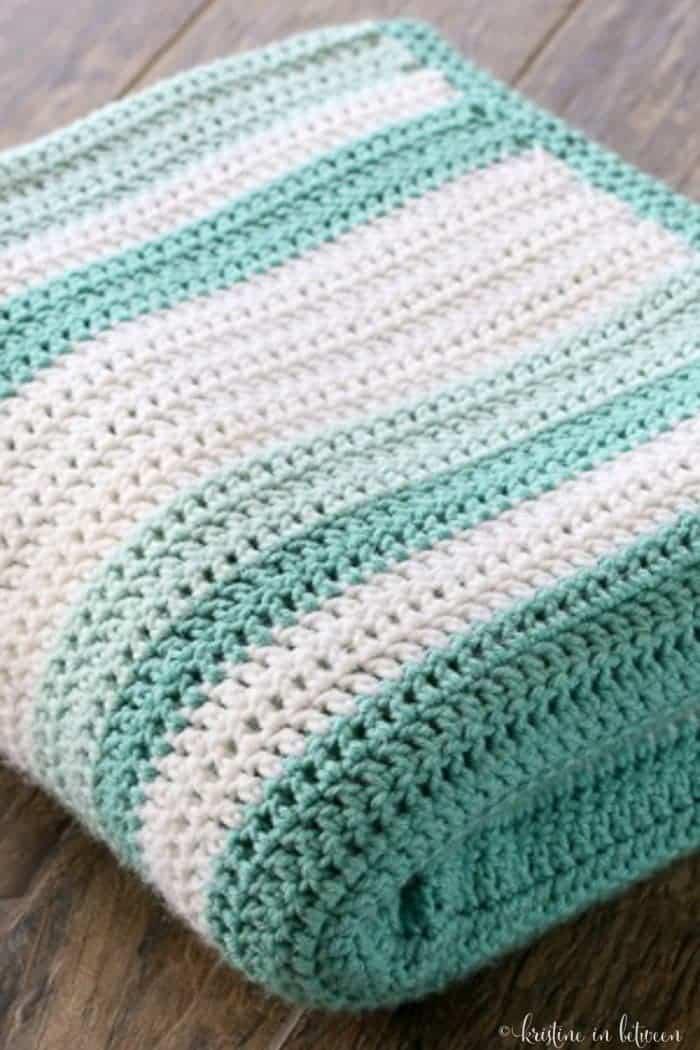 All Double Crochet Afghan Kristine in between