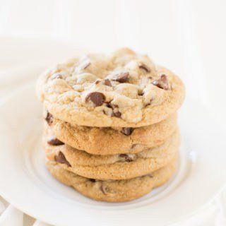 Homestyle chocolate chip cookies with crispy edges and soft centers! They come out perfect every time!
