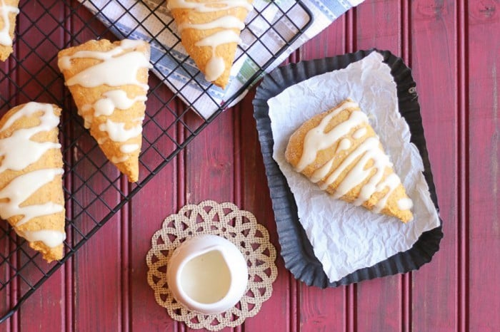 The very best whole food pumpkin scones! It's hard to believe they are sweetened naturally!