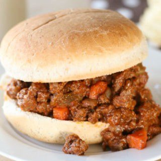 Delicious whole food sloppy joe recipe. It's so good and so easy, you'll never use a mix again!