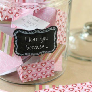 Easy DIY tutorial for a an 'I love you' jar! The perfect craft and activity to do with kids around Valentine's Day!
