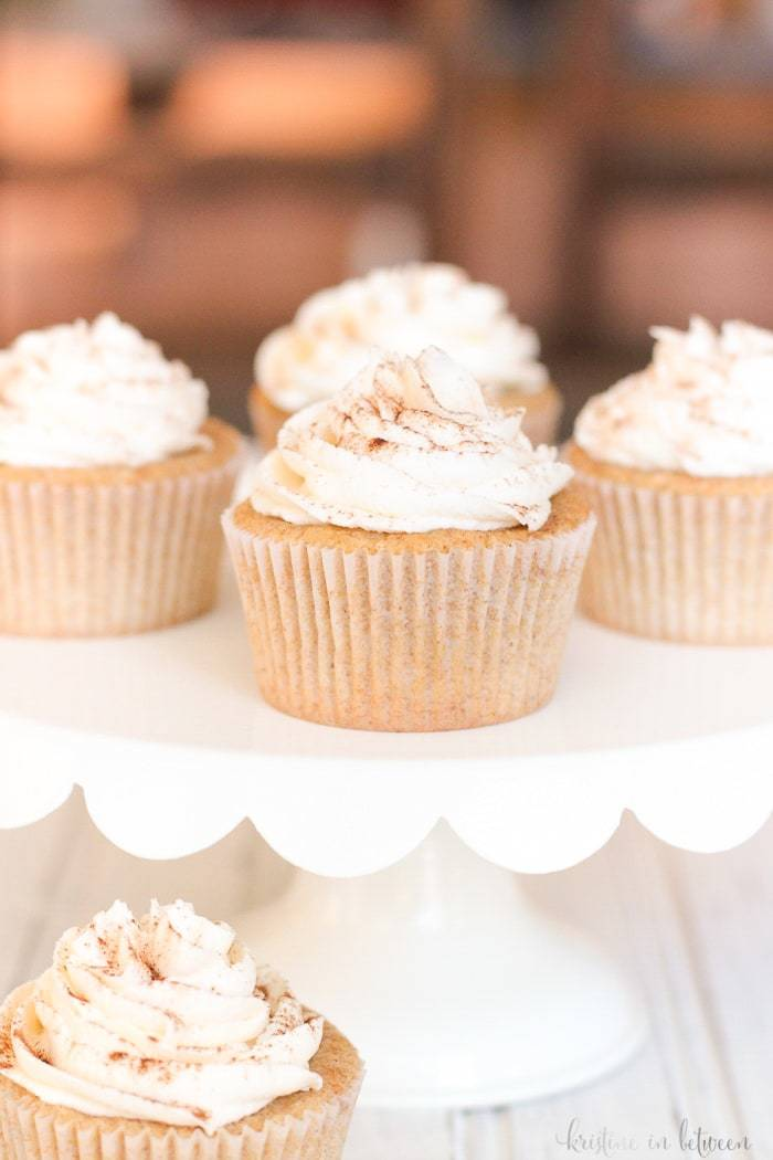 These spicy whole wheat chai cupcakes are at the top of my list to make. They look incredible!