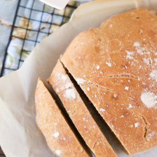 Homemade whole wheat dutch oven bread! An easy way to have fresh bread any day!