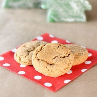 A Christmas traditional gingersnap cookie that's soft and chewy on the inside and crispy on the outside!