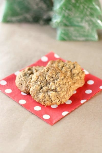 Old fashioned oatmeal walnut cookies. They're prefect for Christmas time or anytime!