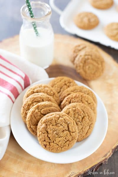 A traditional soft and chewy gingersnap cookie that comes out perfect every time!