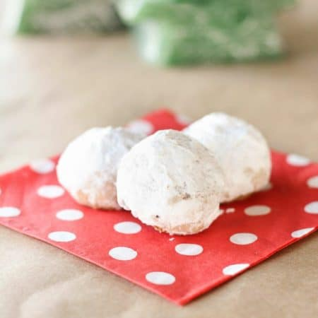 Whether you call them snowballs, pecan balls, or Mexican wedding cookies, these little powdered sugar cookies are delicious!