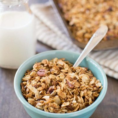 An easy whole food recipe for delicious everyday granola.