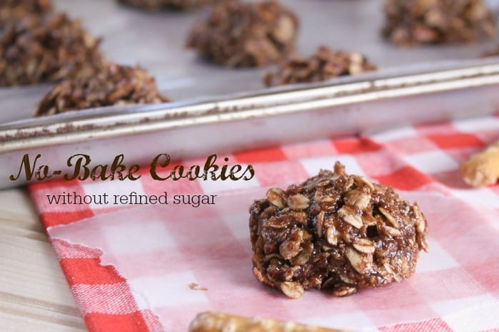 Quick and easy no-bake chocolate cookies made with whole food ingredients!
