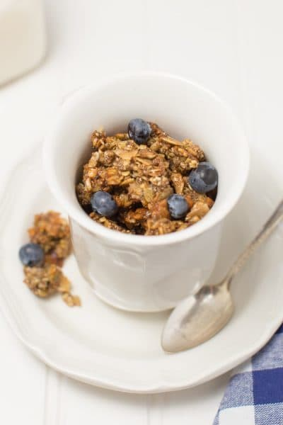 If you need a little crunch in your breakfast that's grain-free, this granola is your answer! It's lightly sweet and incredibly delicious!