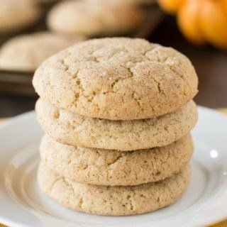 Sweet and spicy pumpkin snickerdoodles. The perfect fall cookie!