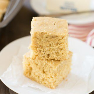 A healthier cornbread made with whole wheat flour and naturally sweetened with honey! It's soft and moist and full of cornbread flavor!
