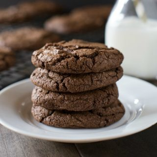 These are the very best dark chocolate cookies! They are decadent and oozing with dark chocolate!