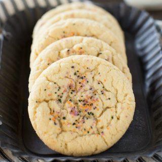 Easy, one bowl Halloween sugar cookies!
