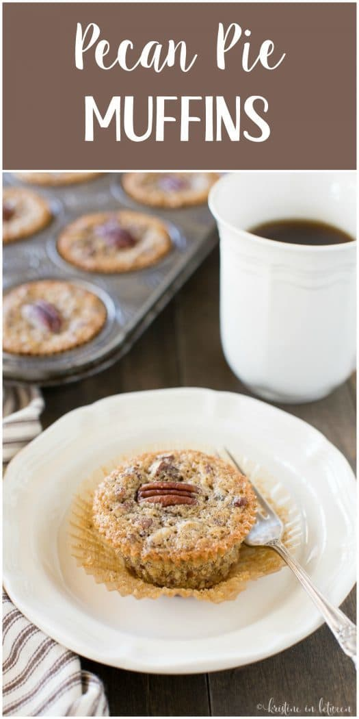 Forget the pecan pie! Make these little pecan pie muffins instead! They're so much easier and have all the pecan pie goodness!