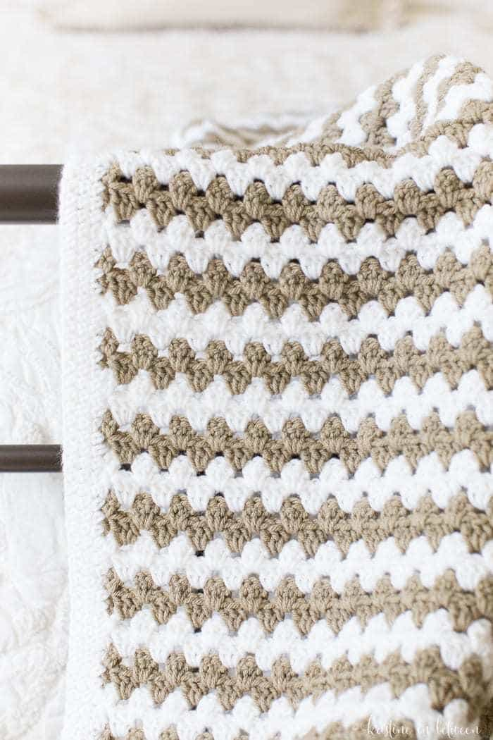 Simple Granny Stripe Afghan | Kristine in between