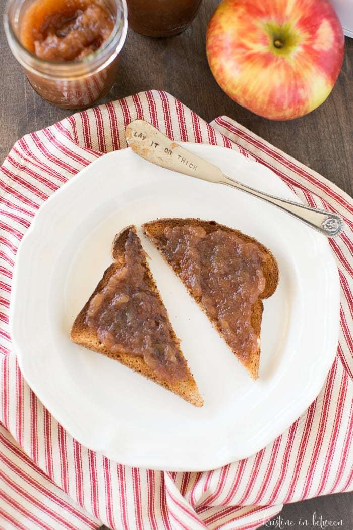 Quick and easy apple butter made in the Crock-Pot!