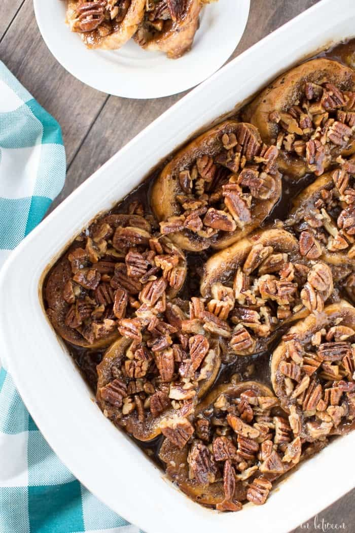 Pecan caramel French Toast is the perfect quick and easy breakfast for Christmas morning!
