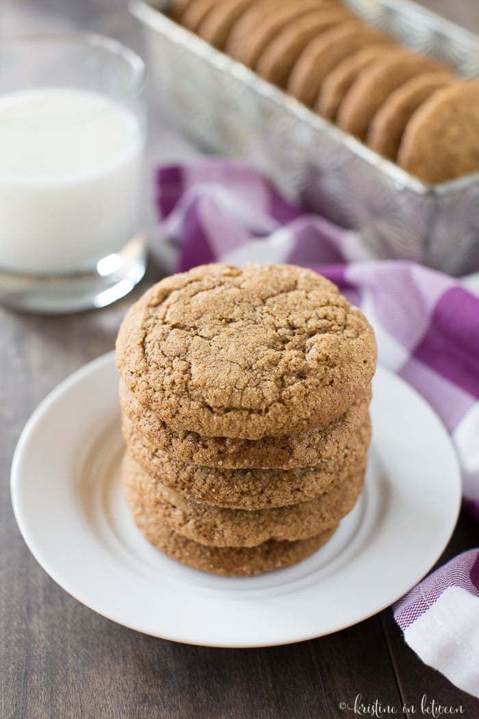 For fall or for Christmas, these pumpkin ginger molasses cookies will quickly become a favorite!