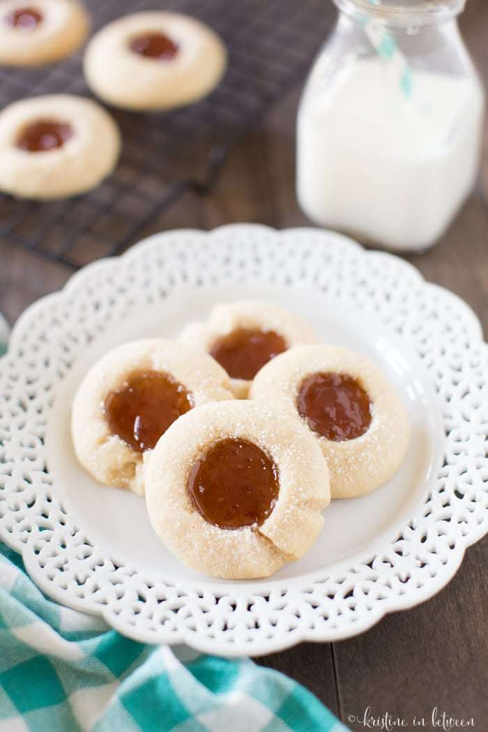 These strawberry thumbprint cookies are perfect for the holidays!