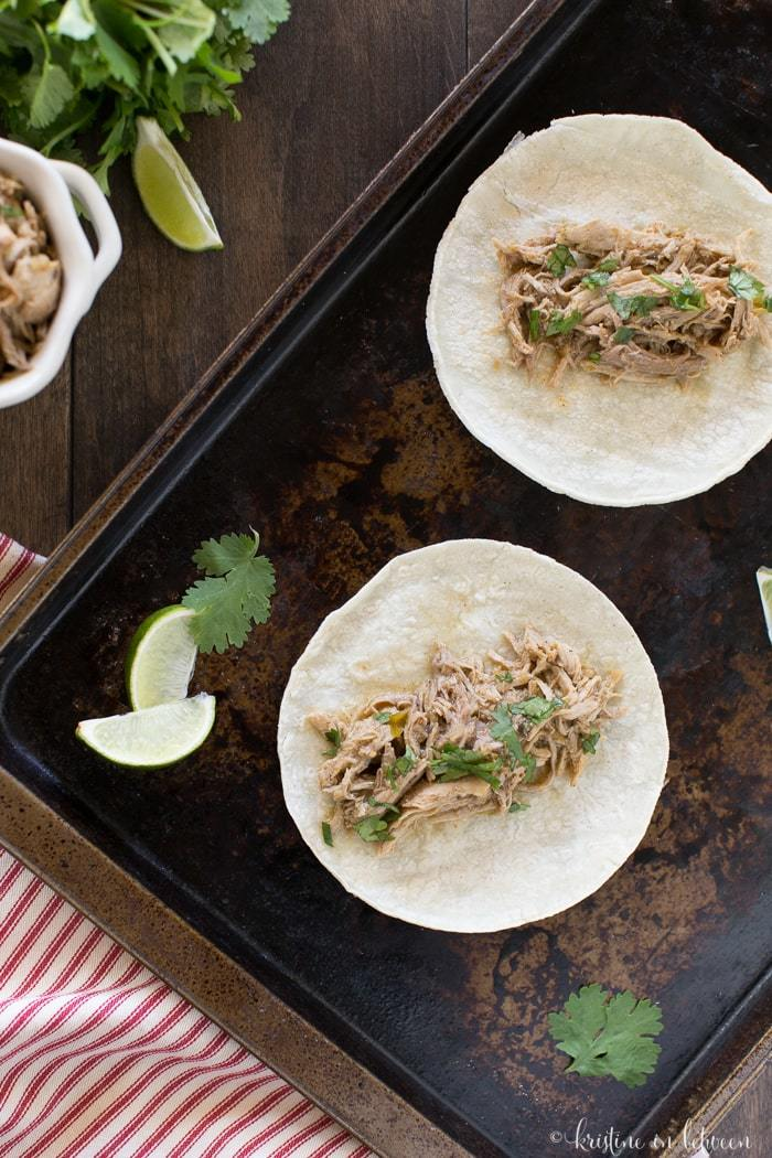 Make this quick and easy pork carnitas for dinner on busy nights!