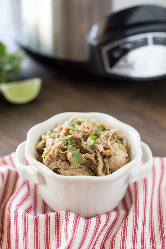 This Crock-Pot pork carnitas is the perfect quick dinner and is a crowd-pleaser!