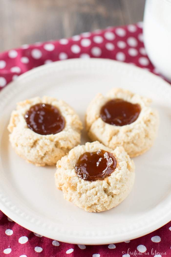 You'll love these almond flour shortbread cookies with raspberry jam!