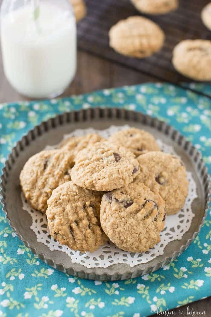 You'll love these lightened up whole grain chocolate chip cookies!