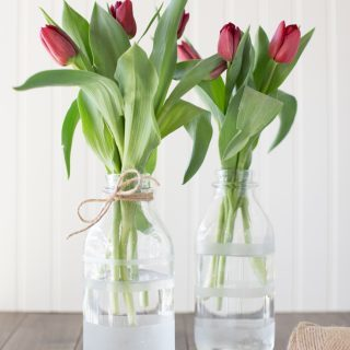 DIY Etched Flower Vases