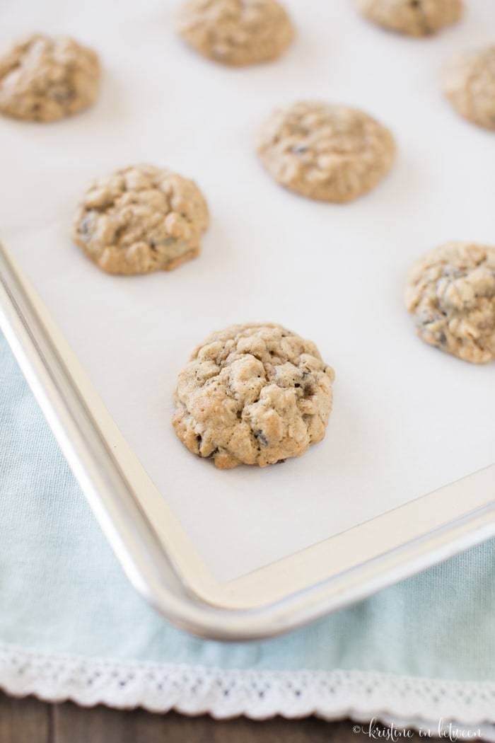 These classic oatmeal raisin cookies come out perfect every time!