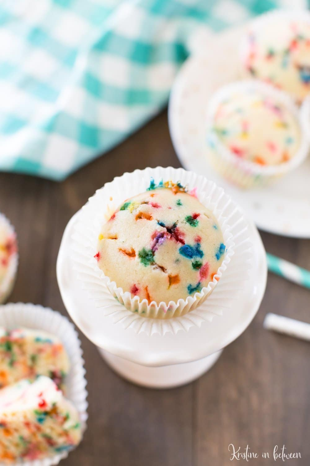 Superb Small Batch Birthday Cake Muffins With Video Kristine In Between Funny Birthday Cards Online Eattedamsfinfo