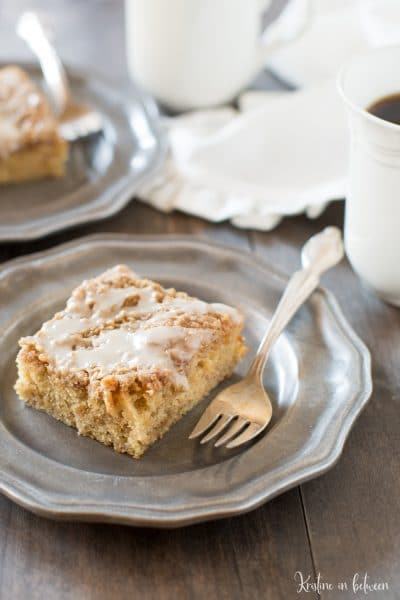This banana crumb cake is the perfect small-batch breakfast or brunch recipe!