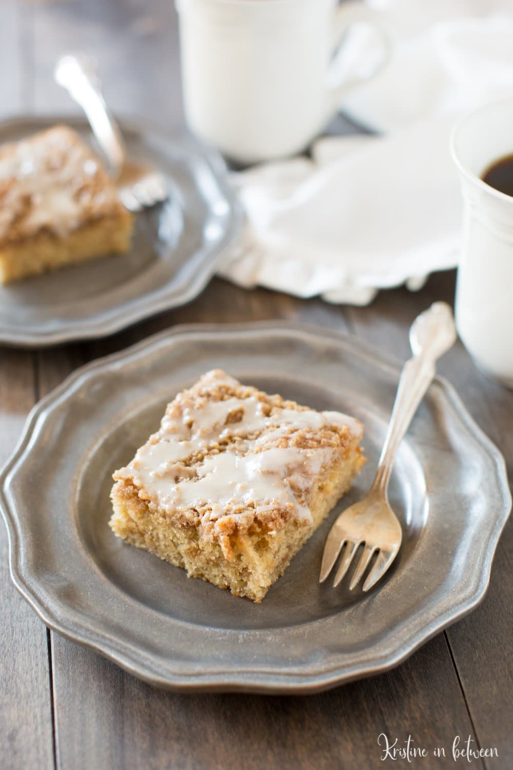 Delicious small-batch banana crumb cake made with white whole wheat flour!