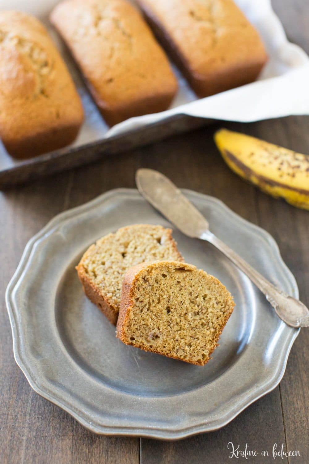 You'll love this perfectly sweet traditional banana bread recipe!