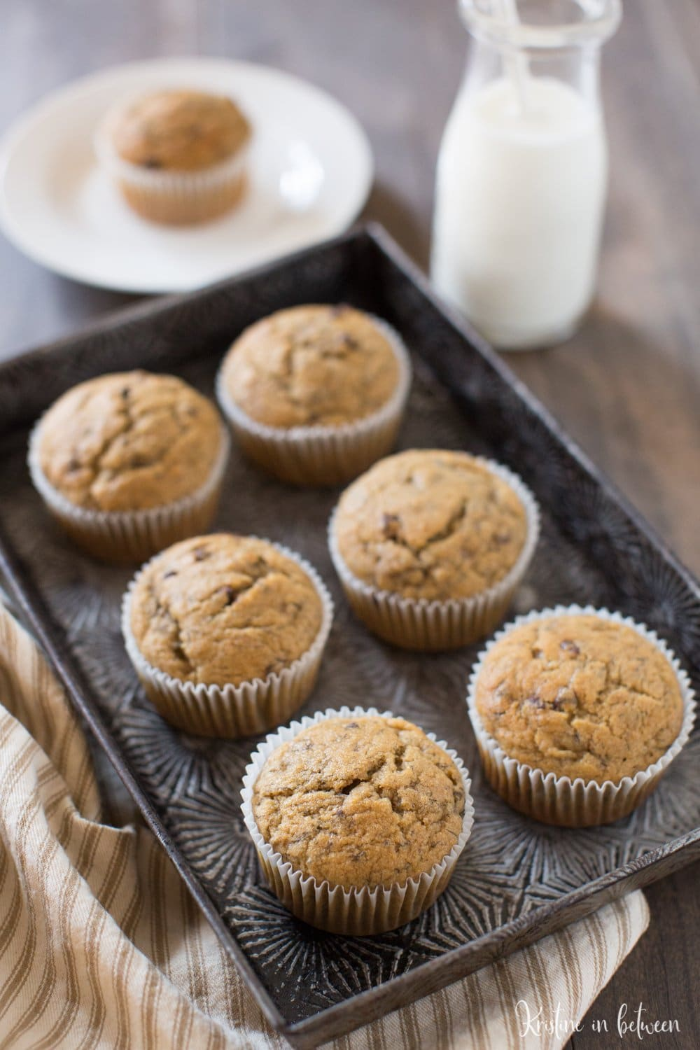These whole wheat peanut butter banana muffins are the perfect breakfast or snack!