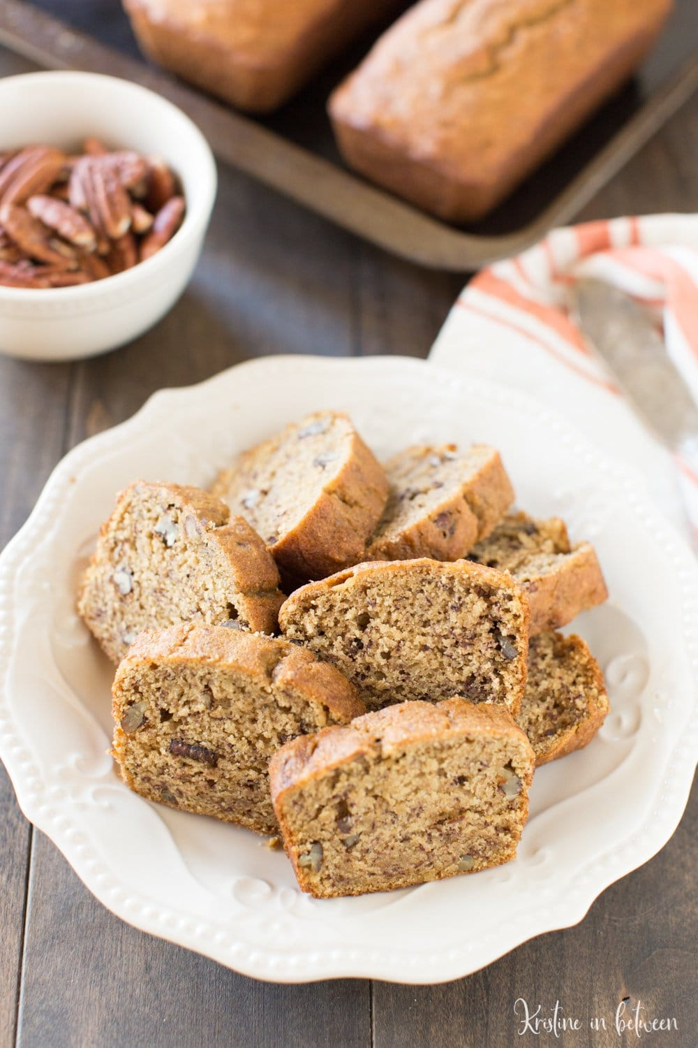 This pumpkin pecan banana bread is the perfect quick bread to make during the fall! It's everything you love about banana bread with a delicious fall twist!