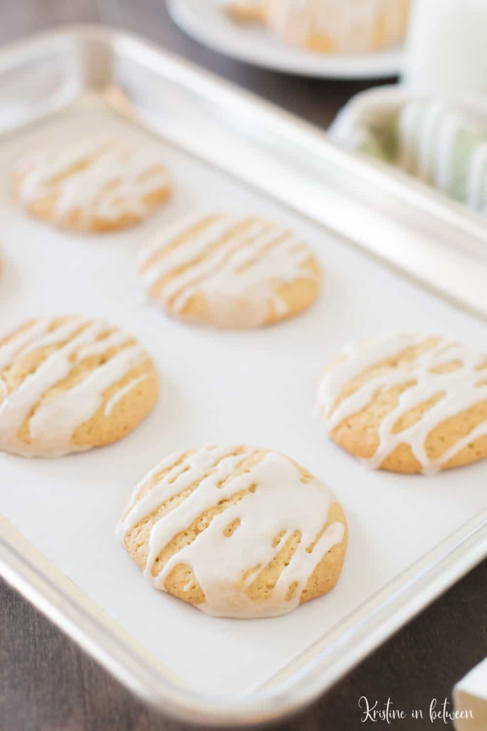 These maple sugar cookies are soft and chewy with a sweet maple glaze! They're quick and easy to make and are the perfect sweet treat!