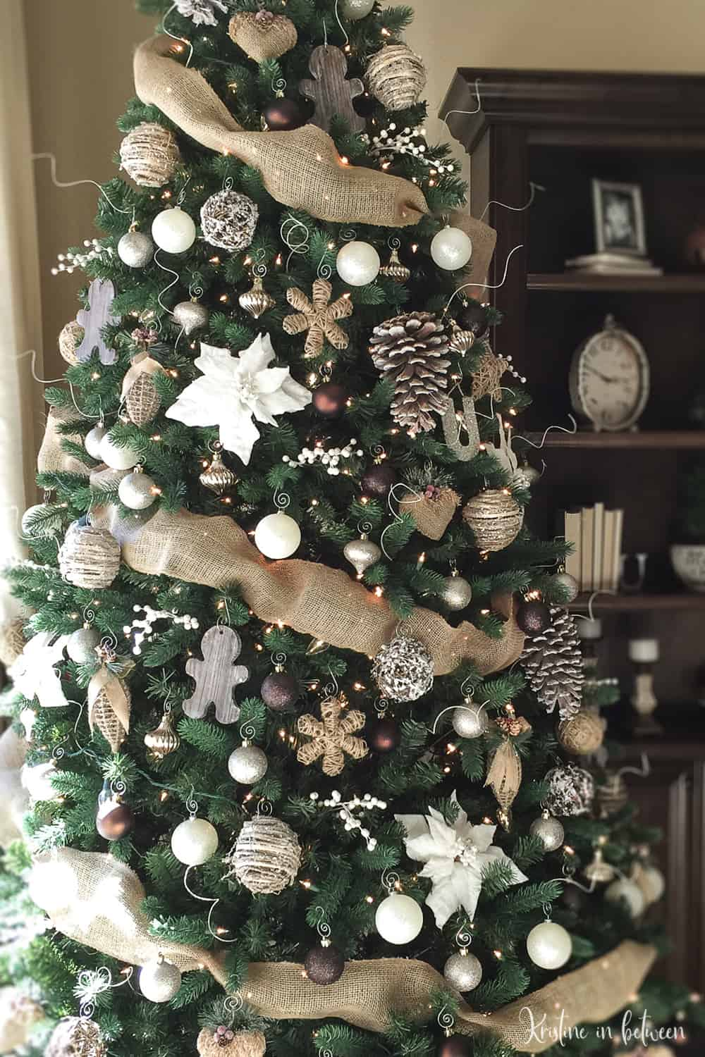 Add farmhouse charm with this DIY galvanized bucket to hold your Christmas tree.
