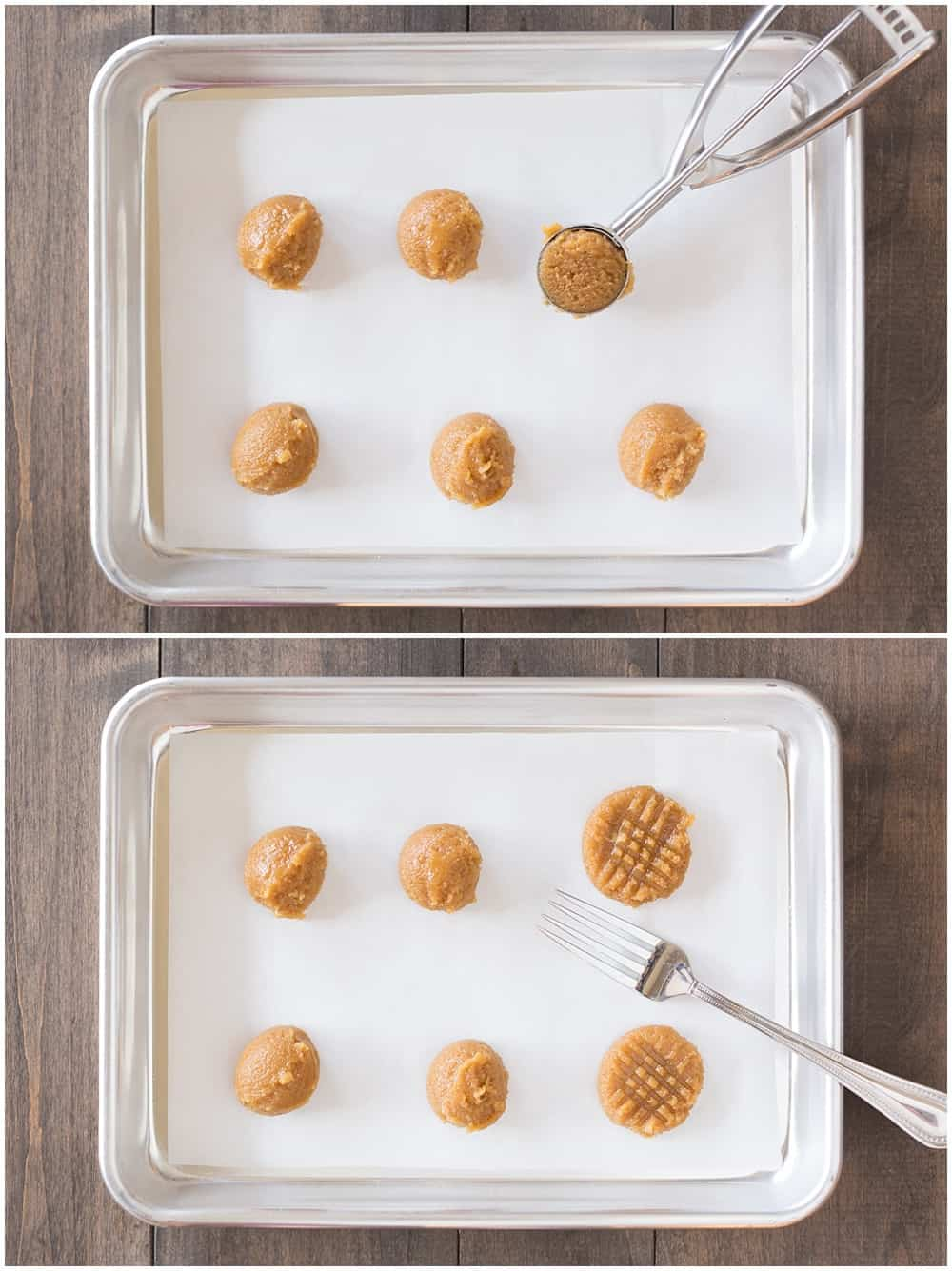 Super simple homemade 3 ingredient peanut butter cookies!