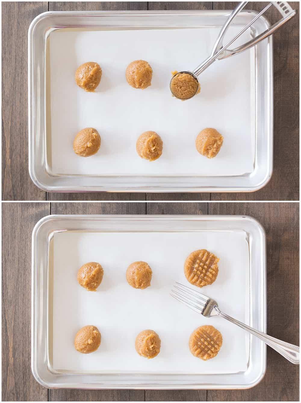 Super simple homemade 3 ingredient peanut butter cookies!