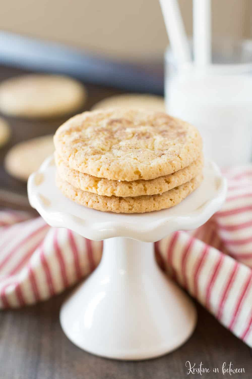 Simple snickerdoodle cookies made in one bowl!
