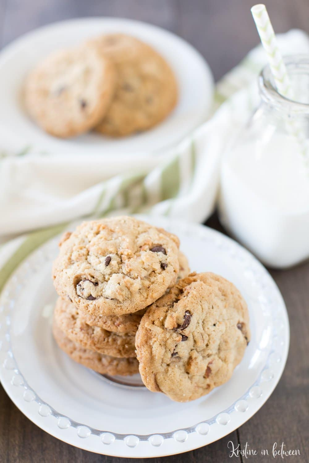 There's nothing better than thick and chewy chocolate chip coconut cookies! This is an easy one-bowl recipe!