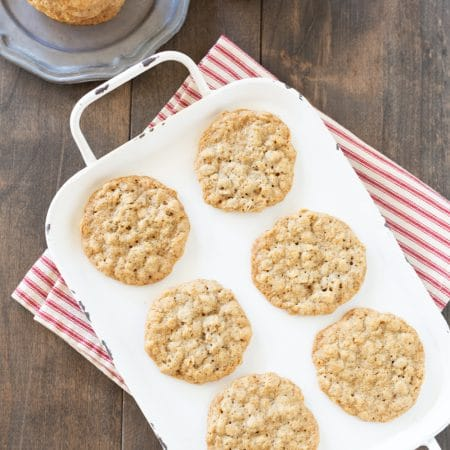 You'll love these super simple thin and chewy classic oatmeal cookies!