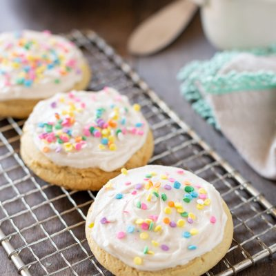 The best soft sugar cookies! Make the in one bowl and in under 30 minutes!