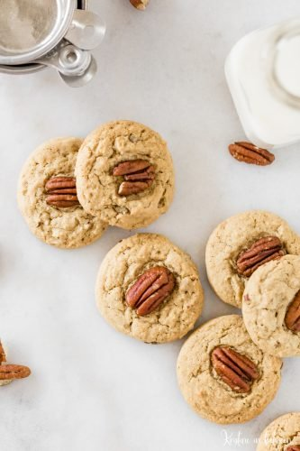 Thick and chewy brown sugar and pecan cookies.
