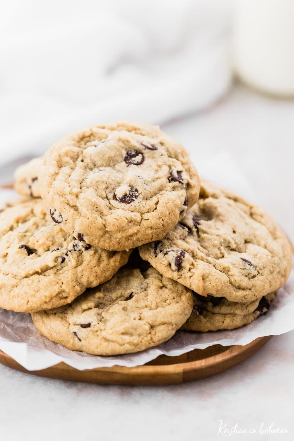 The best thick and chewy homestyle chocolate chip cookies.