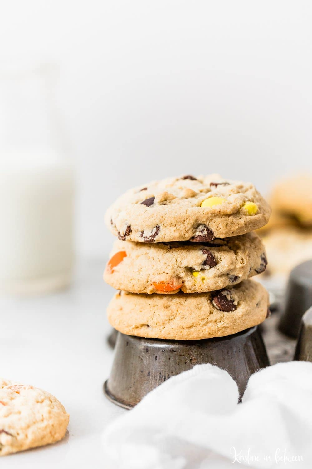 The best thick and chunky Reese's Pieces cookies that are loaded with chocolate chips and Reese's Pieces!