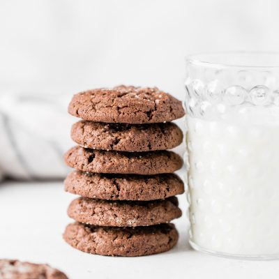 Thick and chewy chocolate sugar cookies!